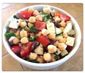 Mediterranean Chickpea Salad with Lemony Greek Vinaigrette