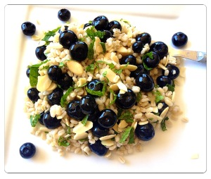 Barley, Blueberry and Mint Salad